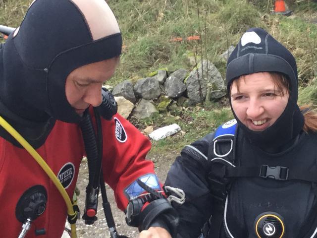 Ocean diver success